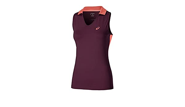 ASICS - Padel Sleeveless Polo, Color Plum, Talla S: Amazon.es ...