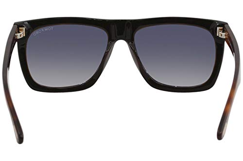 2a5c829a3d Tom Ford FT0513 05B Shiny Black Havana Morgan Square Sunglasses Lens  Category 2