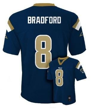 Majestic Sam Bradford St Louis Rams NFL Youth Size Jersey Navy (Youth Xlarge (Rams Authentic Jersey)