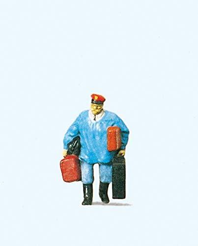 Preiser 28013 Individual Figure Railway Personnel Porter w//Luggage HO Model Figure