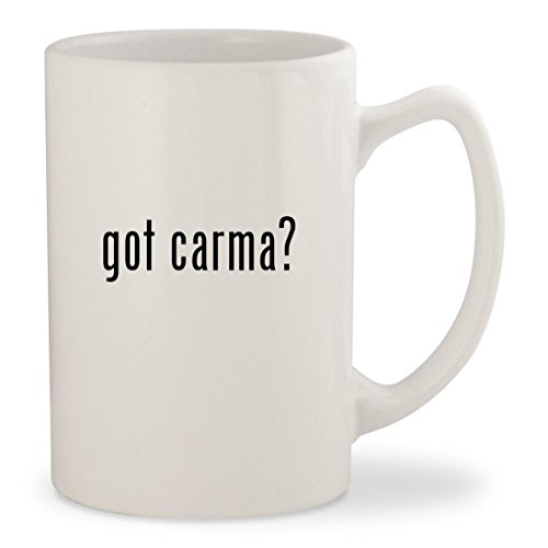 got carma? - White 14oz Ceramic Statesman Coffee Mug Cup