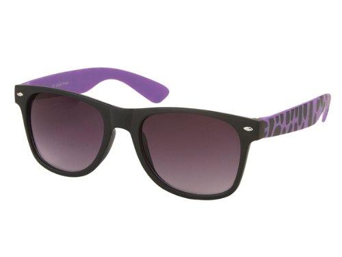 Chic Zebra Unisex Sunglasses Net nerd glasses dark tinted UV 400 Wayfarer shades of - Chic Glasses Nerd