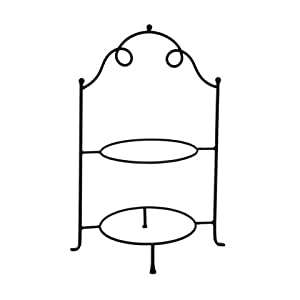 Tuscan 2 Tier Wrought Iron Metal Serving Plate Stand  sc 1 st  Amazon.com & Amazon.com: Tuscan 2 Tier Wrought Iron Metal Serving Plate Stand ...