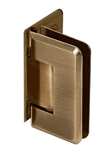 - CRL Pinnacle 044 Series Antique Brass Wall Mount Offset Back Plate Hinge
