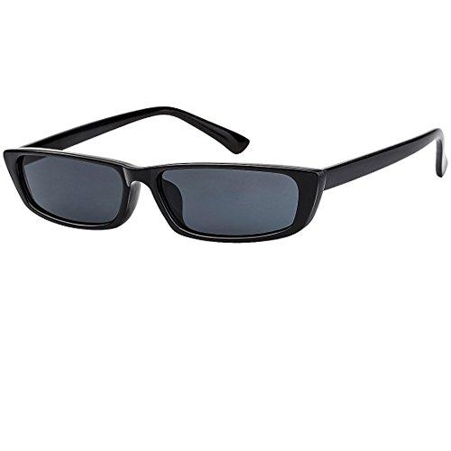 Buauty Rectangle Small Frame Sunglasses Trendy Stylish Designer Shades for Women Men