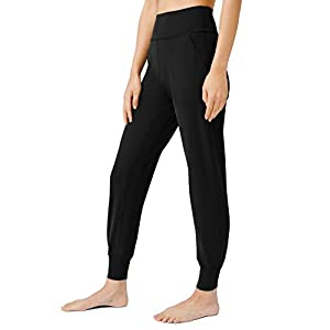 AJISAI Women's High Waisted Joggers with Pockets Yoga Pants for Running Lounge