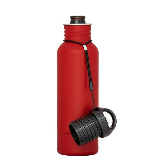(BottleKeeper - The Standard 2.0 - The Original Stainless Steel Bottle Holder and Insulator to Keep Your Beer Colder (Red))