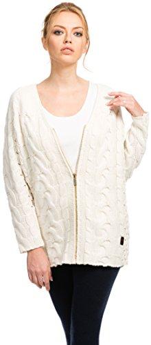 Citizen Cashmere Long Cardigan Sweater – 10% Cashmere / 90% Merino (White, S) 41 166WC-01-01