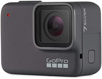 GoPro HERO7 Silver Waterproof Digital Action Camera with Touch Screen 4K HD Video 10MP Photos Renewed