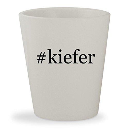 #kiefer - White Hashtag Ceramic 1.5oz Shot - Kiefer Sutherland Glasses