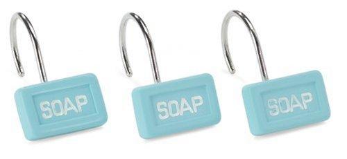 Sealskin Soap 12 Anelli per tenda doccia colore: Turchese (Blu) 2511