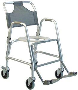 Shower Chair Transport Deluxe - Deluxe Shower Transport Chair with Footrests: Deluxe Shower Transport Chair w/ Footrests/CS