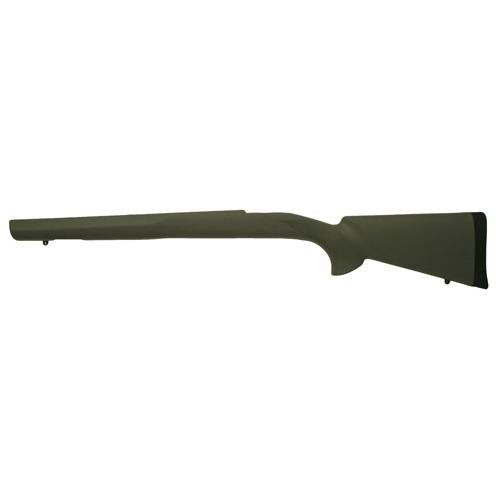 Hogue Ruger 77 MKII Long Action Overmolded Stock Standard Barrel, Pillarbed, Olive (Fiberglass Rifle Stock)
