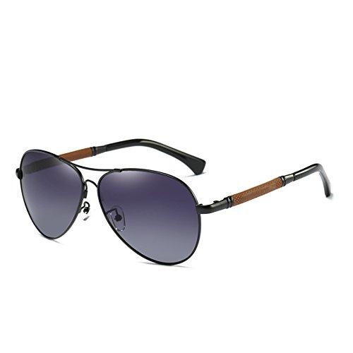 de Hombre Caja Gris Lujo Marca polarizadas con de Zygeo Espejo de Cl¨¢sico de la Sol los Gafas Sol como Masculino Negro Regalo Espejo Hombres Plata la Gafas Pilot Aviador de qCC1HUw8