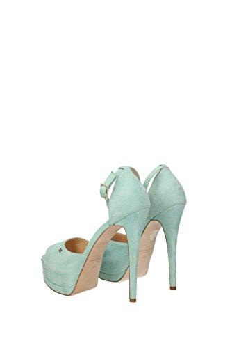 Franchi Sandals Suede Women 3202572 Elisabetta Unito Regno Verde dpq17dT4