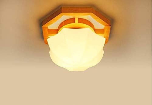 Balcón plafón LED de madera maciza pasillo de vidrio pasillo pasillo luz de la escalera en forma de flor lámparas para niños, gran 42 * 20cm18 azulejo LED blanco: Amazon.es: Iluminación