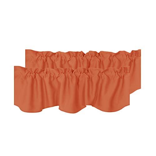 H.VERSAILTEX Thermal Curtain Valances Window Treatments Rod