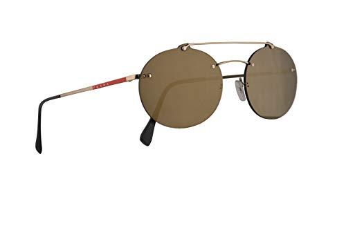 Prada PS56TS Sunglasses Pale Gold w/Dark Grey Mirror Gold 55mm Lens ZVN4L0 PS 56TS SPS 56T SPS56T