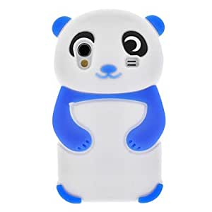 ZCL Blue Panda Silicone Soft Case for Samsung Galaxy Ace S5830