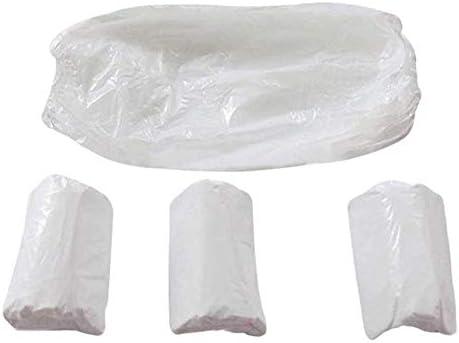 100枚ース使い捨てアームスリーブカバーアーム用防水保護スリーブ、キッチンクッキング用プラスチックオーバースリーブプロテクタ(白-F301)