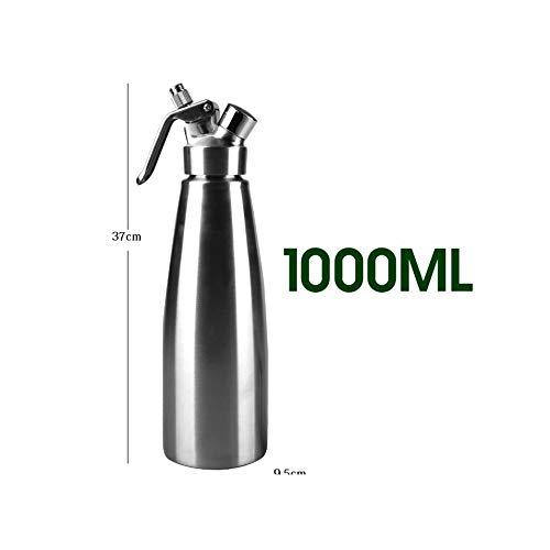 500Ml/1000Ml Aluminium Cream Whipper Dispenser With Decorating Nozzles Cream Foam Maker Cream Gun Dessert Tools,1000Ml