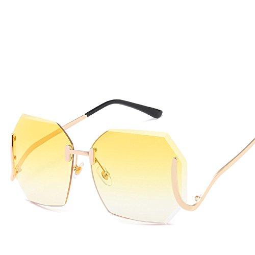 Gafas Océano De La NO2 Marco Cut Sol Playa Americana RinV Moda Edge Gafas Señoras Metal Vintage Y Europea De Viajes No5 Sin De Espejo Sol gRxIx6q1w