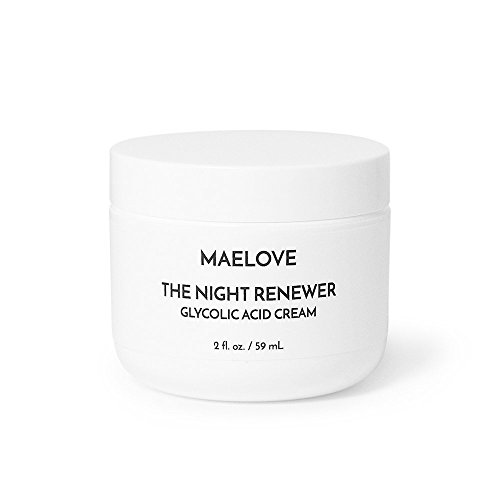 MAELOVE High-Potency Glycolic Acid Night Cream with Squalane, Shea Butter and Aloe. Great for Sensitive Skin Review