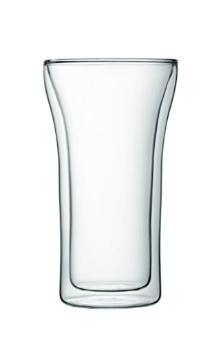 Bodum Assam Double Wall Glass, Set of 2, 0.4 l, 13.5 oz., Clear