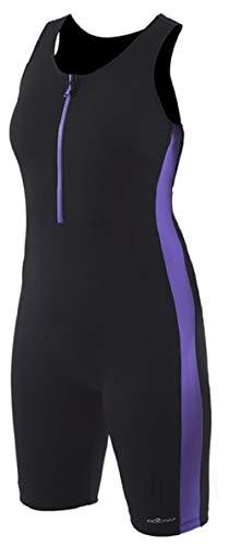 Dolfin AQUASHAPE Women's Zip-Front Swim AQUATARD Black/Purple Size 12