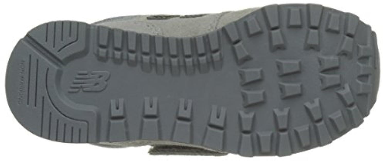 New Balance Unisex Kids 574 Low-Top Sneakers, Grey (Grey), 1 UK 33 EU