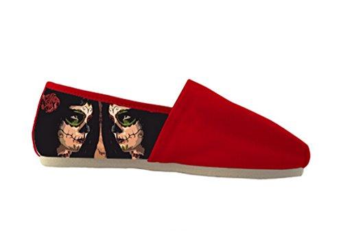 Kvinners Lerret Casual Sko Med Dagen Av Døde Tema Tilfeldige Kvinner Shoes18  ...