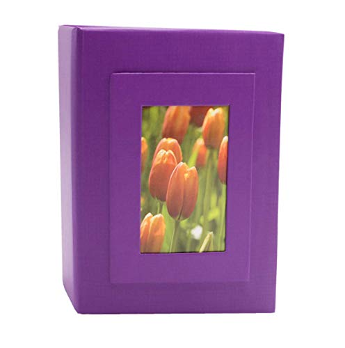 KVD Kleer-Vu Deluxe Albums Inc. Floramma Collection, Holds 100 4x6 Photos, 1 Per Page, Window Frame Cover, Purple (Deluxe Albums)