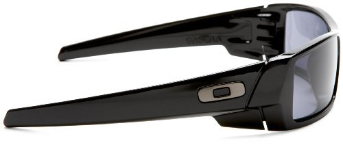3a8f62400 Oakley Men's Gascan Polarized Rectangular Sunglasses, Steel /Prizm Black,  60mm
