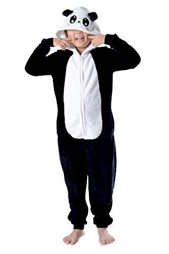 Unisex Children's Panda Onesie Pajamas Girl's Animal Costumes Kid's Halloween Cosplay Size Medium 9 10 11 9-11 Years Old