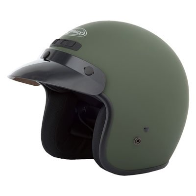 (YOUTH GM-2 OPEN-FACE HELMET MATTE GREEN YS-YM)
