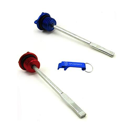 (TC-Motor 2pcs Red/Blue CNC Engine Oil Dipstick For Lifan YX 125cc 140cc 150cc 200cc 250cc Stomp YCF IMR SSR Thumpstar GPX DHZ Chinese CRF50 Pit Dirt Bikes/ATV Quad Taotao Sunl)