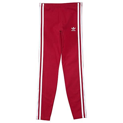 adidas Originals Kids Baby Girl's Everyday Iconics 3-Stripes Leggings (Toddler/Little Kids/Big Kids) Unity Pink/White Small