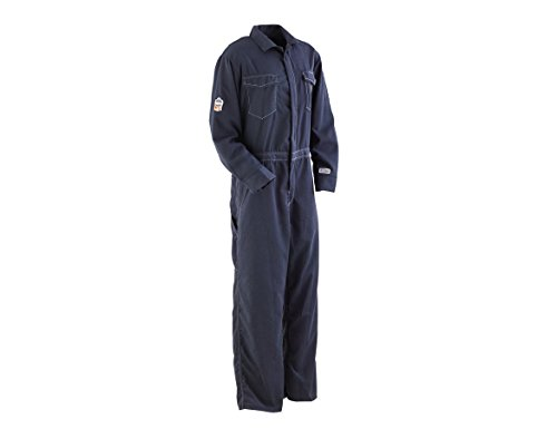 mance Work Wear 7490 Outer Layer FR Unlined Coverall, Navy, 42R (Ergodyne Core)