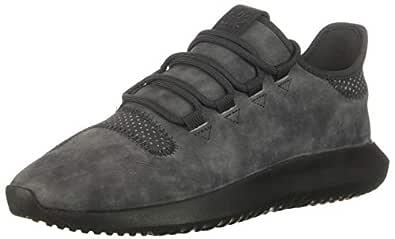 adidas Originals Women's Tubular Shadow Running Shoe, Carbon/Trace Maroon, 5 M US
