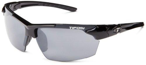 Tifosi Jet 0210400270 Wrap Sunglasses,Gloss Black Frame/Smoke Lens,One - Sunglasses Makes Who Small Faces For