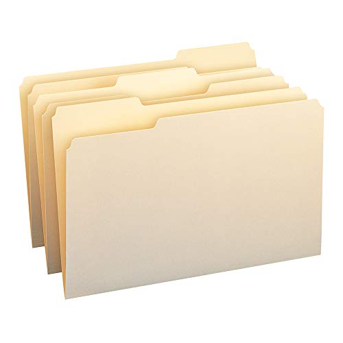 Smead File Folder, 1/3-Cut Tab,  Legal Size, Manila, 100 Per Box (15330) (Smead Legal Size Folders)