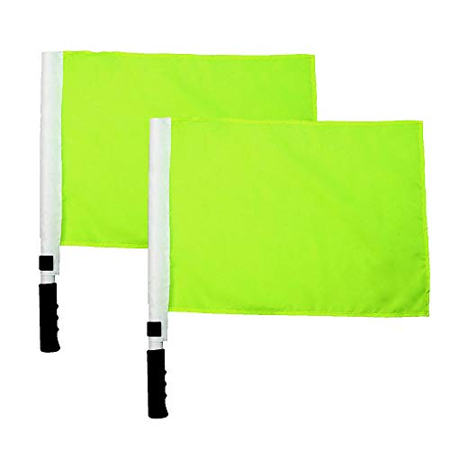 MAYFOO Sports Referee Flags - Track and Field Sports Training Flag Signal Flags (Green)