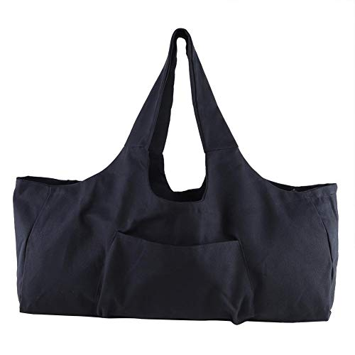 - Large Capacity Canvas Handbag Single Shoulder Storage Bag Sport Gym Bag Shopping Storage Bag (Black)