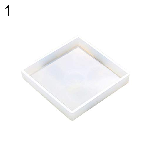 - HEART SPEAKER Silicone Round/Square/Hexagon Tea Saucer Mold Flower Pot Tray Mould DIY Tool - Square