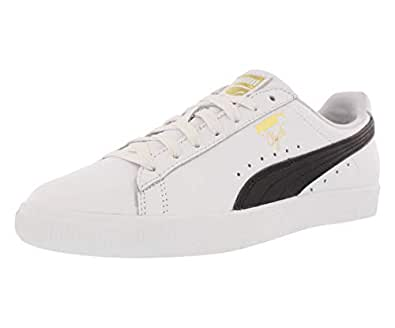 9fd074eaca46 PUMA Womens Clyde Core L Foil Leather Low Sneakers  PUMA  Amazon.ca ...