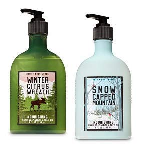 Bath and Body Works 2 Pack Winter Citrus Wreath and Snow Capped Mountain. 8 -