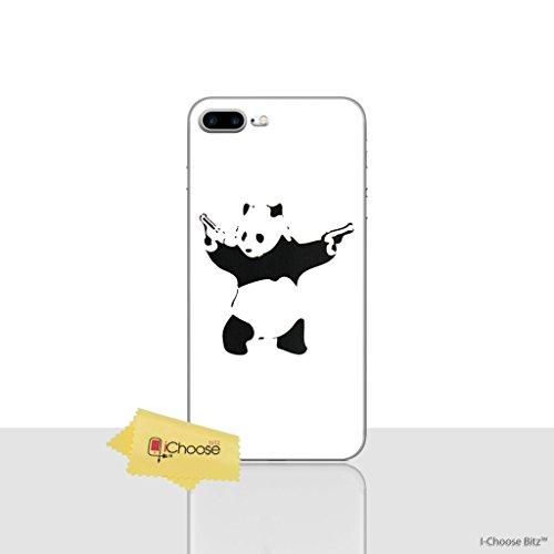 iPhone 8 Plus Banksy Estuche de Silicona / Cubierta de Gel para Apple iPhone 8 Plus (5.5) / Protector de Pantalla y Paño / iCHOOSE / Rata Panda