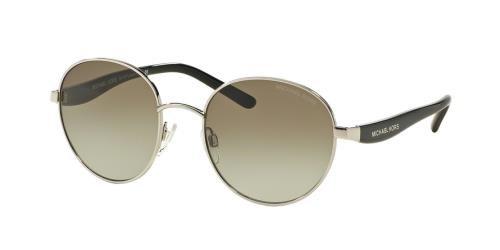 Michael Kors Women's Sadie III Sunglasses, Silver Black/Green Gradient, One Size