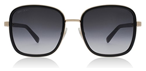 Jimmy Choo Elva/S 2M2 Black / Gold Elva/S Square Sunglasses Lens Category 2 - Choo Jimmy Sunglasses