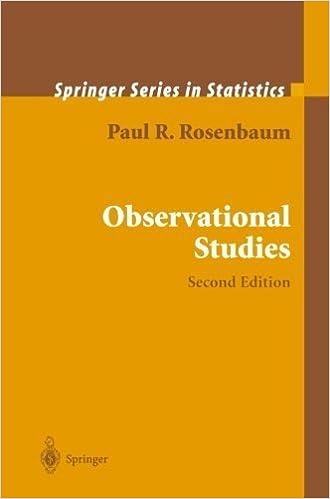Observational Studies (Springer Series in Statistics) by Paul R. Rosenbaum (2010-12-01)